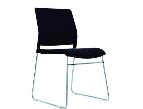 Silla tipo trineo, asiento y respaldo desarmable, modelo A-600.