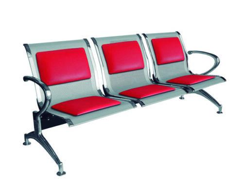 Banca de espera AEROPUERTO, con PAD tapizado, modelo E-49300T.